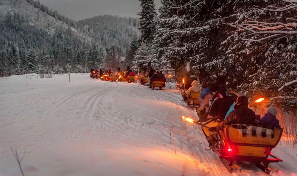 Kulig Z Pochodniami Po Zakopanem Tatra House Pensjonat
